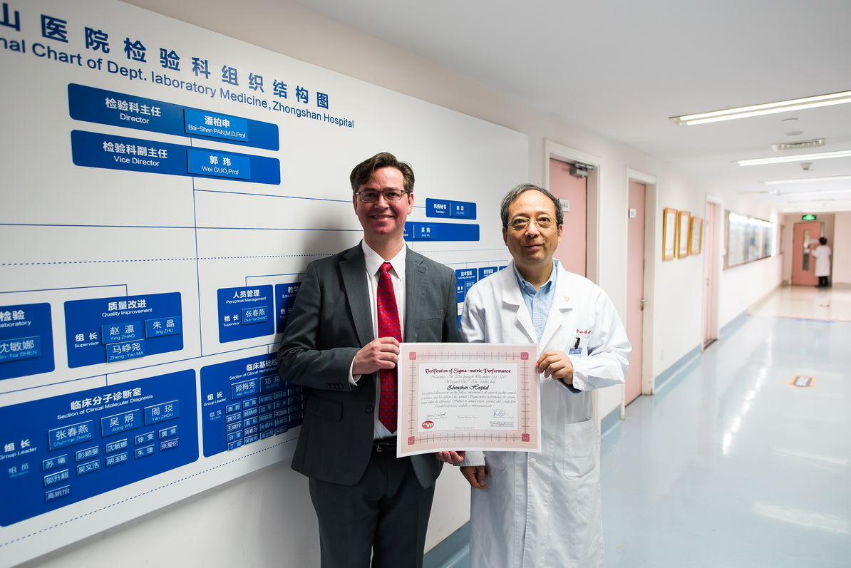 Pilot Sigma Verification of Performance for Zhongshan Hospital